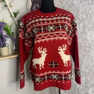 Woolrich deer fair isle Wool sweater